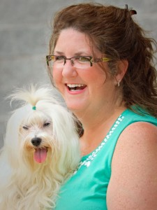 Pupcakes Owner Arlene, and her dog Aiden